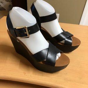Michael Kors Black Wedge Sandal 9